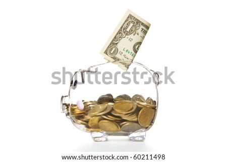 Savings - Piggy bank style money box