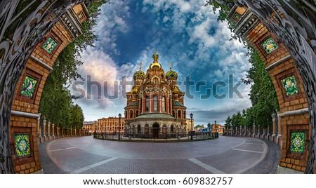 Savior on Spilled Blood. Orthodox church. St. Petersburg. The mu
