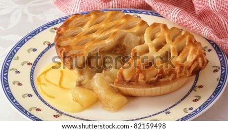 savory meat and potato pie displayed