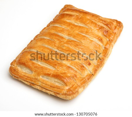 Savoury steak pastry slice.