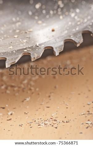 Saw and wood board