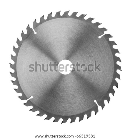 Saw blade on a white background
