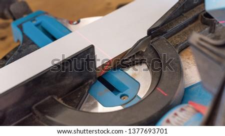 Saw multifuncional blue Foto stock ©