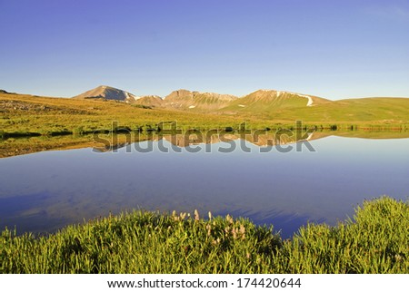 Sawatch Range Reflection in Calm Lake, Rocky Mountains, Colorado