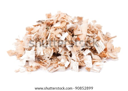 Sawdust isolated on the white background
