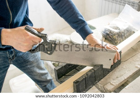 saws with a knife at the corner with the device, wood hacksaw