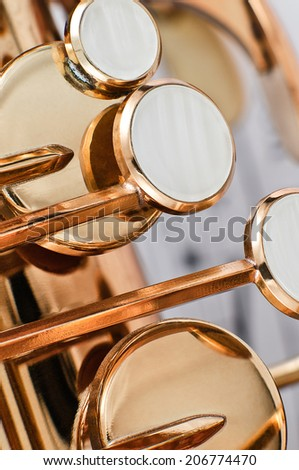 Saxophone keys detail