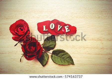 Say love via diamond ring and red rose to your lovers in Valentine's Day. Love is all around.I do loving you all day and night. Love digital concept.