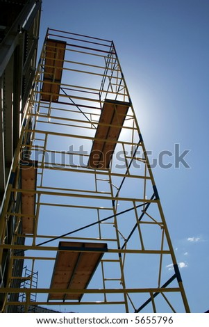 scaffolding on blue sky...