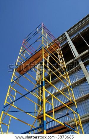 scaffolding on blue sky...