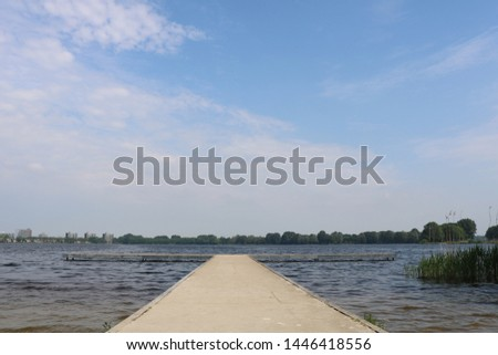 Scaffolding or dock above water body #1446418556