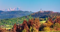 Scainic Landscape view in  High Tatras mountain region near Levoca city, Slovakia