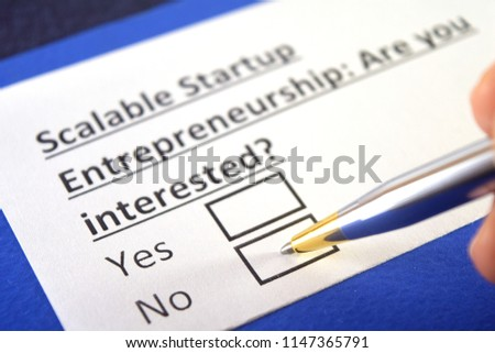 Scalable startup entrepreneurship: are you interested? No