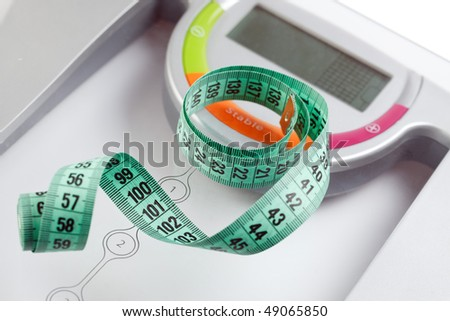 scale and measuring tape