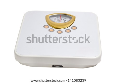 scales foot health sport isolated on white background clipping path