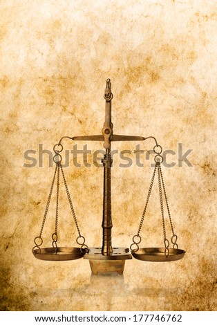 scales of justice antique style ...