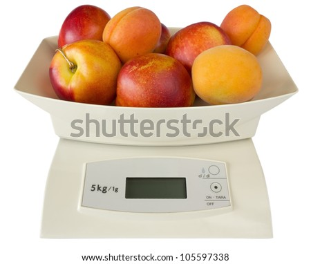 Scales with Peaches and Apricots