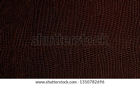 Scaly leathery brown cover surface in dim light