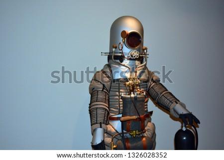Scandinavian diving suit, space suit #1326028352