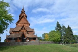 Scandinavian  heritage  park in minot North  dakota