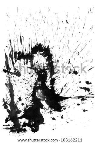scanned ink stain