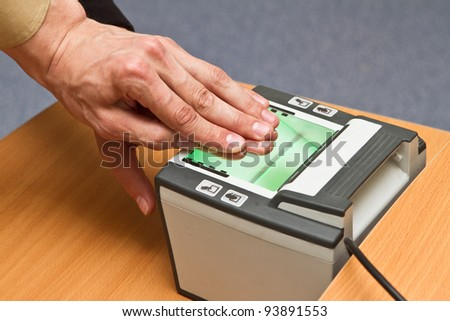 scanning fingerprints