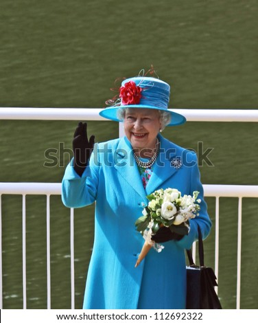 SCARBOROUGH, ENGLAND - MAY 20: Her Royal Highness Queen Elizabeth II at opening of Royal Open Air Theater, Scarborough, North Yorkshire, England. May 20 2010