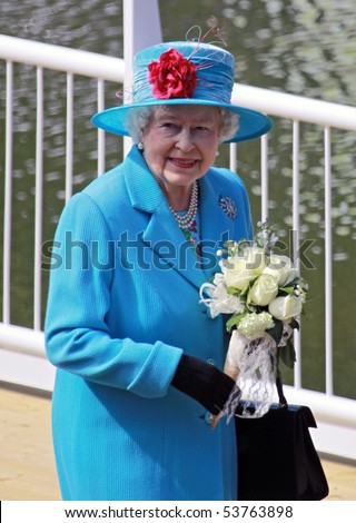 SCARBOROUGH, ENGLAND - MAY 20: Her Royal Highness Queen Elizabeth II at opening of Royal Open Air Theater, Scarborough, North Yorkshire, England, 20th May 2010.