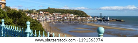 Photo of  Scarborough, Yorkshire at Low Tide - A Banner Style Image
