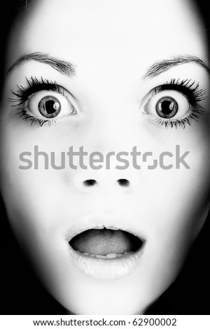 stock photo : Scared face of