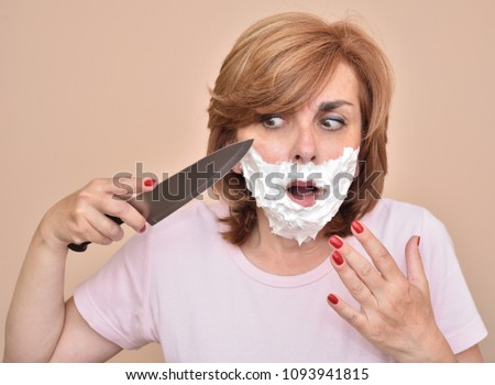 what happens if a girl shaves her mustache