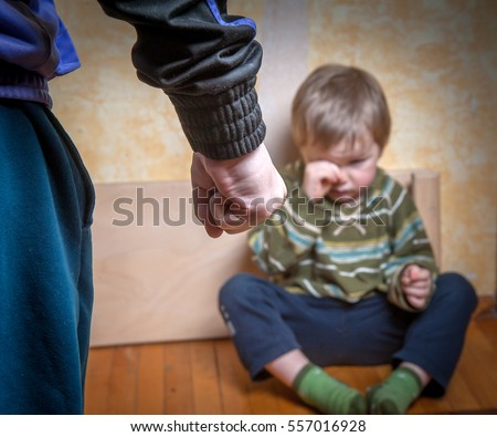 scared or terrified child boy...