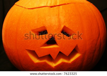 Scarey Halloween Pumpkin Face