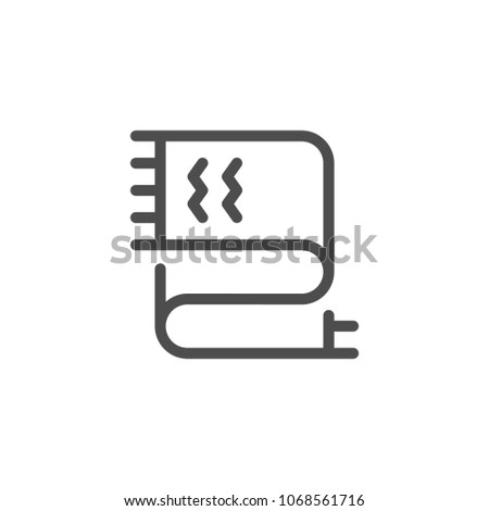 Scarf line icon isolated on white