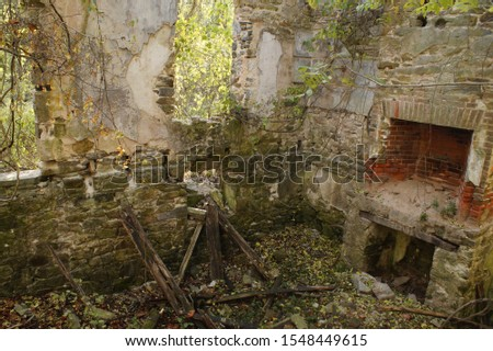 Scary and abandoned in the woods #1548449615