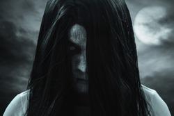 Scary ghost woman, halloween theme