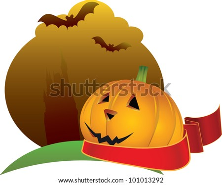 Scary Halloween background with place for your text