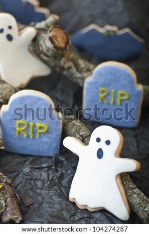 Scary Halloween cookies for party