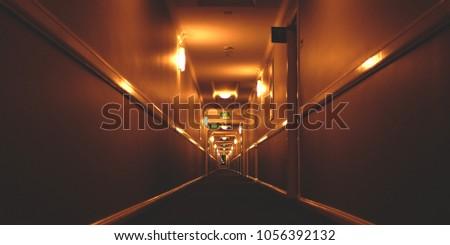 scary hallway corridor #1056392132