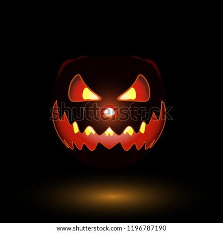 Scary helloween pumpkin