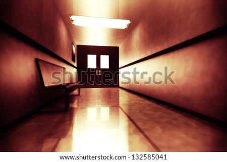 Scary Hospital Corridor
