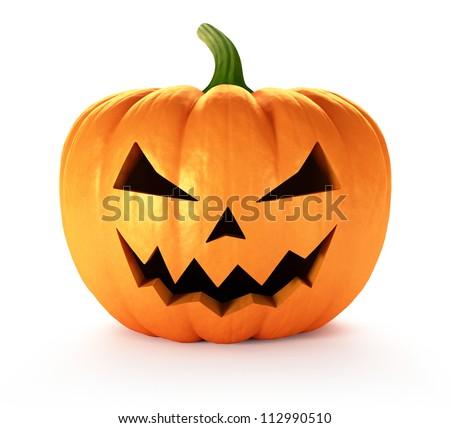 Scary Jack O Lantern halloween pumpkin 3D render