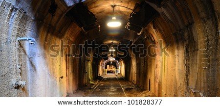 scary mine tunnel
