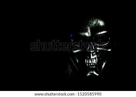 Scary Grunge Skull Wallpaper Background For Halloween