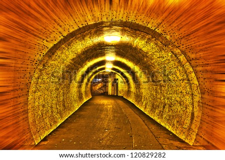 Scary Tunnel with Streaks