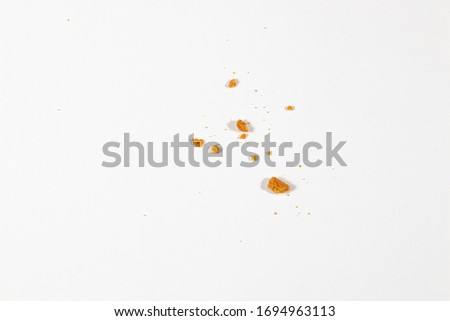 Scattered crumbs isolated on white background ストックフォト ©