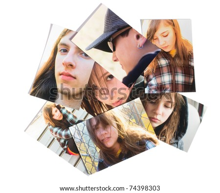 Scattered family photographs - stock photoScattered Photographs