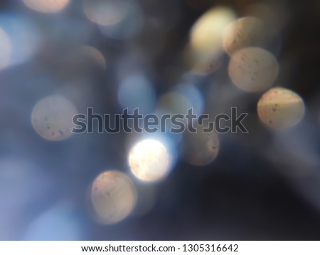 Scattered golden bokeh  shining brightly in the night. #1305316642