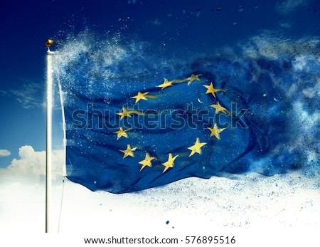 Scattering flag of European Union #576895516