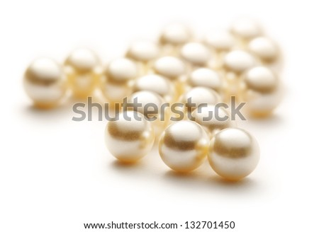 Scattering white pearls on white